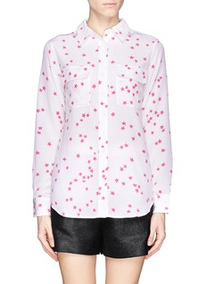 EQUIPMENT Star print signature silk shirt