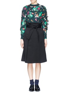 TOGA ARCHIVES Floral print bow appliqué sweater