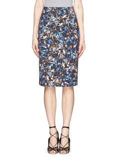 ERDEM 'Frida' floral blossom print pencil skirt