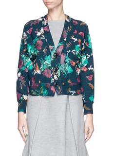 TOGA ARCHIVESCropped tropical print wool blend cardigan