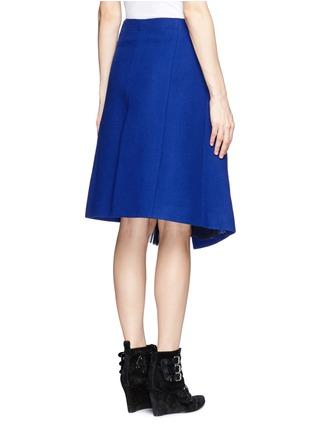 Back View - Click To Enlarge - Sacai - Plissé pleat chiffon felt wrap skirt