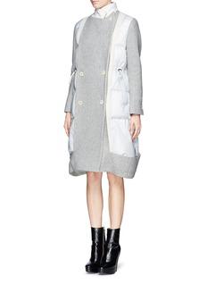 SACAIDown filled nylon panel felt coat