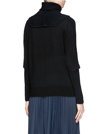 Back View - Click To Enlarge - TOGA ARCHIVES - Detachable snood contrast knit sweater