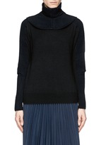 TOGA ARCHIVES Detachable snood contrast knit sweater
