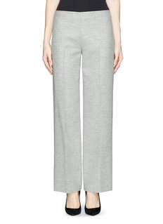 THE ROW 'Mindy' double face wool wide leg pants