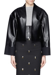 TOGA ARCHIVESFaux leather cropped jacket