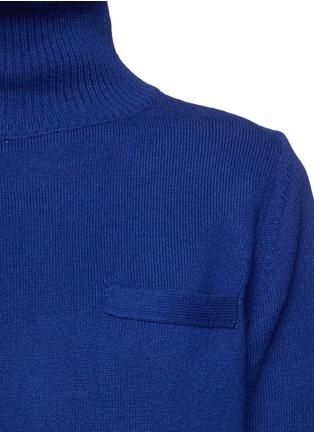 Detail View - Click To Enlarge - Sacai - Plissé pleat chiffon back turtleneck sweater
