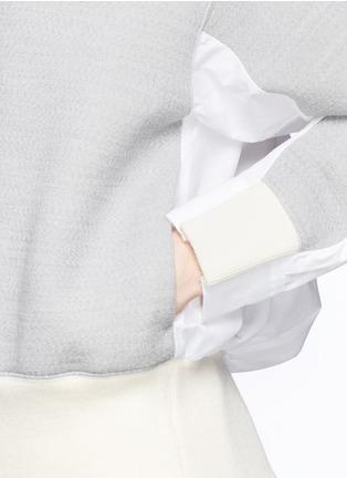 - Sacai - Double face wool blend combo sweatshirt