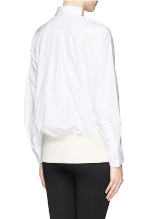 Back View - Click To Enlarge - Sacai - Double face wool blend combo sweatshirt