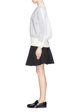 Figure View - Click To Enlarge - Sacai - Double face wool blend combo sweatshirt