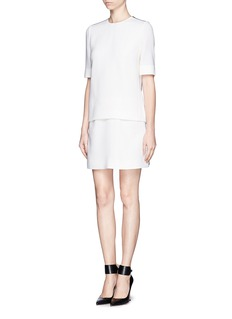 VICTORIA, VICTORIA BECKHAM Double layer wool crepe dress