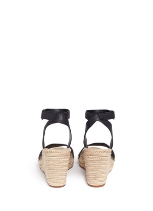 Back View - Click To Enlarge - Tory Burch - 'Bima' leather espadrille wedge sandals