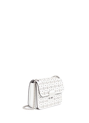 Detail View - Click To Enlarge - Michael Kors - 'Solan Editor' medium floral perforated leather bag
