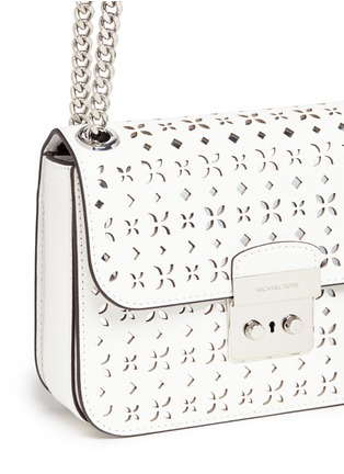 - Michael Kors - 'Solan Editor' medium floral perforated leather bag