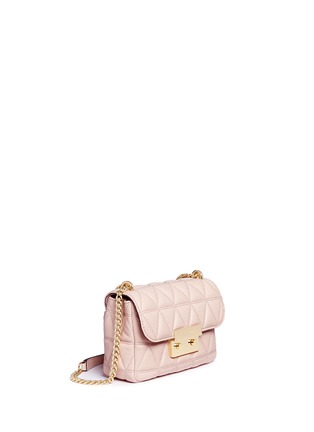 Detail View - Click To Enlarge - Michael Kors - 'Sloan' small quilted leather chain crossbody bag