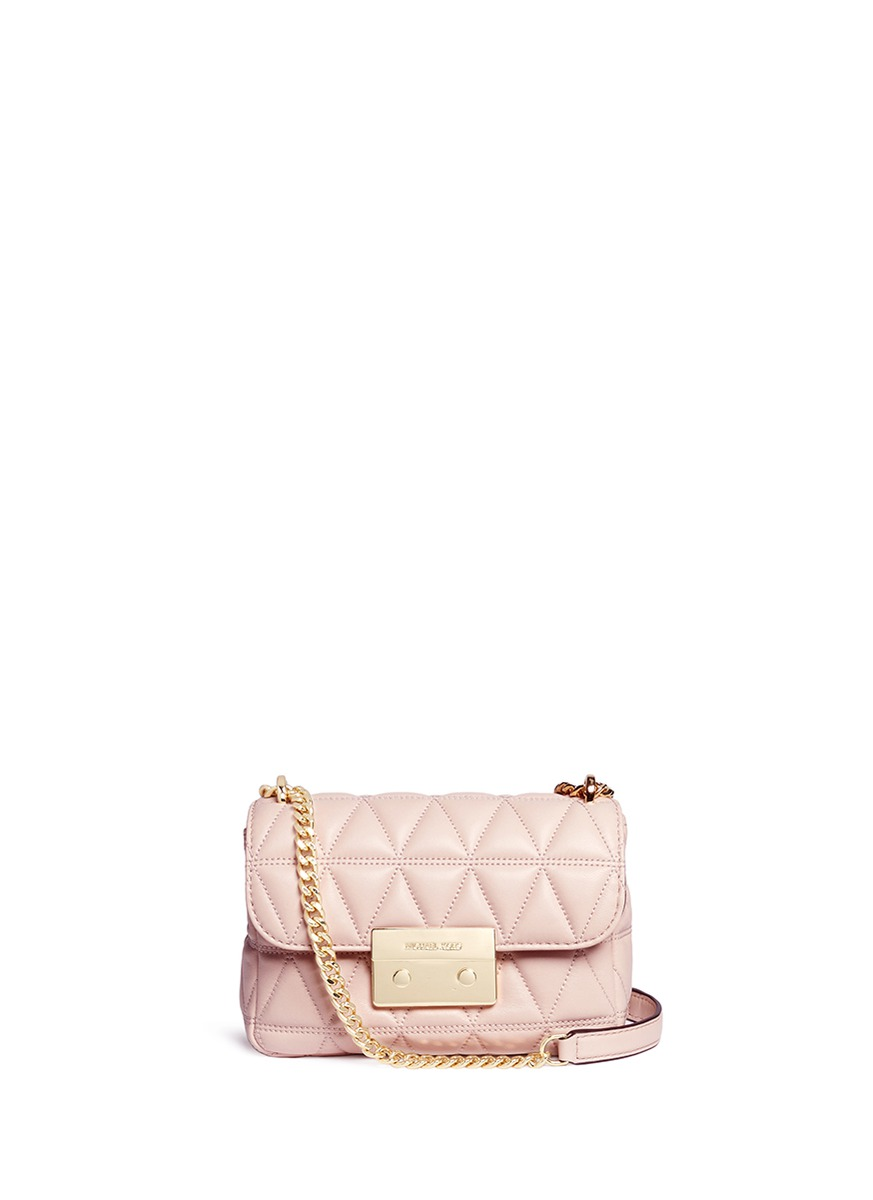 michael kors female sloan small quilted leather chain crossbody bag