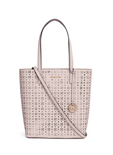 Michael Kors'Hayley' large floral perforated leather tote