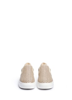 Stuart Weitzman LC-873056946-KID - DOUBLE MARCIA SKATE IN GLITTER PERFORATION