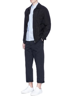 Comme Des Garçons HommeStripe patchwork wool-linen blouson jacket