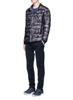 Isaora Camouflage print down puffer jacket
