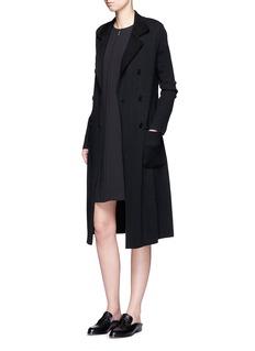 MAIYETTie waist cashmere knit trench coat
