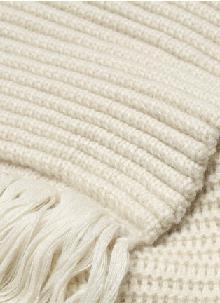 Detail View - Click To Enlarge - MAIYET - Cashmere ottoman knit fringe scarf