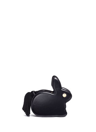 Detail View - Click To Enlarge - Hillier Bartley - 'Bunny' tassel pull leather clutch