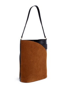 Hillier Bartley'Cigar' suede and calfskin leather tote