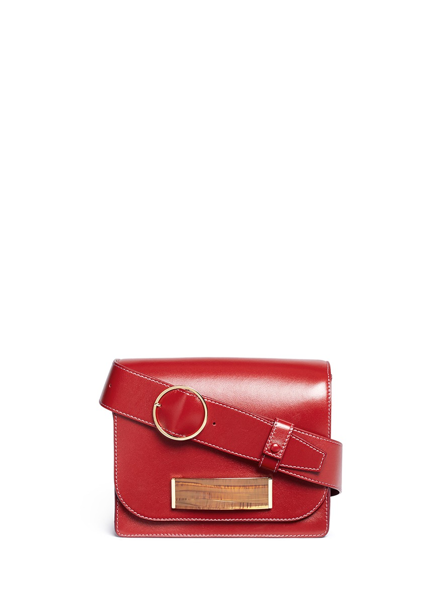 Barrette leather satchel by Hillier Bartley