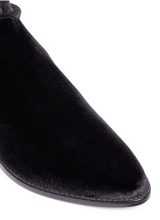 Detail View - Click To Enlarge - Stuart Weitzman - 'Leggy Lady' velvet thigh high boots