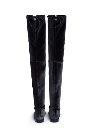 Back View - Click To Enlarge - Stuart Weitzman - 'Leggy Lady' velvet thigh high boots