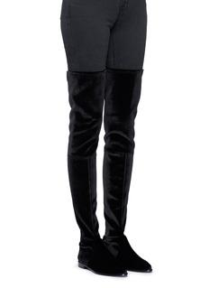Stuart WeitzmanLeggy Lady' velvet thigh high boots