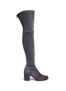 Stuart Weitzman 'Tieland' stretch suede thigh high boots
