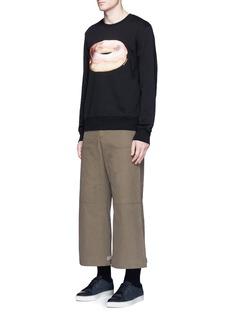 Acne Studios'Casey' doughnut emoji patch sweatshirt