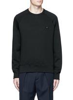 'College Face' emoji patch cotton sweatshirt