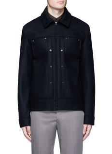 Acne Studios'Metal' eyelet wool blend melton shirt jacket