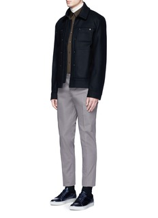 Acne Studios 'Metal' eyelet wool blend melton shirt jacket