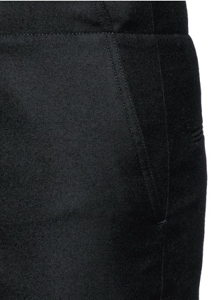 Detail View - Click To Enlarge - Acne Studios - 'Pace' drawstring cuff wool pants