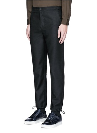 Front View - Click To Enlarge - Acne Studios - 'Pace' drawstring cuff wool pants
