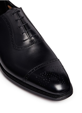 Detail View - Click To Enlarge - George Cleverley - 'Adam' leather brogue Oxfords