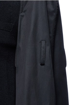 Detail View - Click To Enlarge - Sacai - Strap raglan sleeve wool top