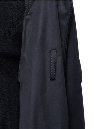 Sacai-Strap raglan sleeve wool top