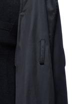 Strap raglan sleeve wool top