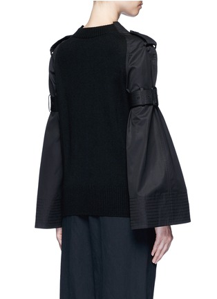 Back View - Click To Enlarge - Sacai - Strap raglan sleeve wool top