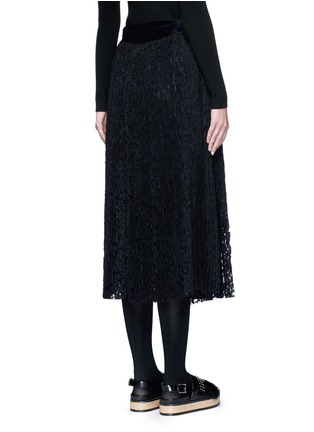 Back View - Click To Enlarge - Sacai - Pleated guipure lace wrap midi skirt
