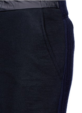 Detail View - Click To Enlarge - Sacai - Wool-cashmere knit back jogging pants