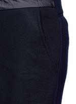 Wool-cashmere knit back jogging pants