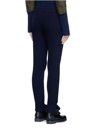 Back View - Click To Enlarge - Sacai - Wool-cashmere knit back jogging pants