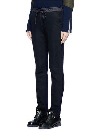 Sacai-Wool-cashmere knit back jogging pants