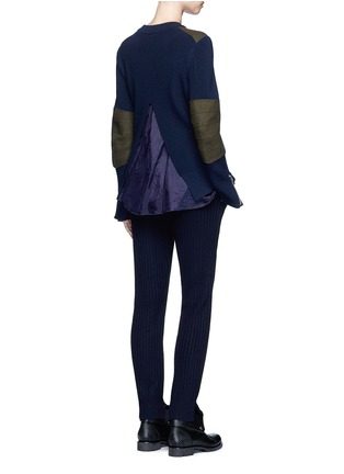 Figure View - Click To Enlarge - Sacai - Wool-cashmere knit back jogging pants